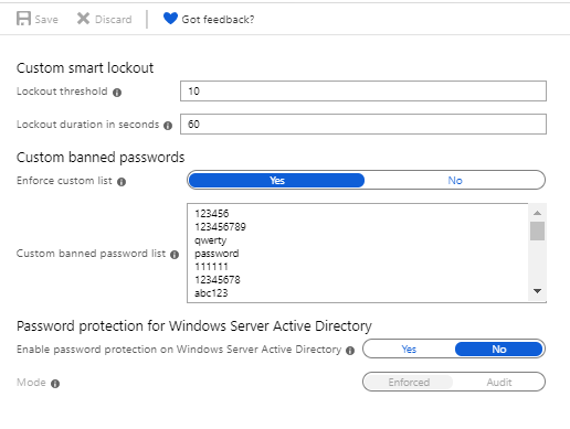 Configure NCSC Top Passwords List in Azure AD